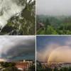 Ciklona Pomet:  Dinamična meteorološka  subota (FOTO, VIDEO)