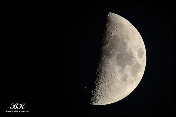 Tranzit ISS preko Mjeseca, foto: Boris Kačan