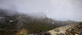 FOTOREPORTAŽA Od orkanske bure do jakih pljuskova snijega na južnom Velebitu