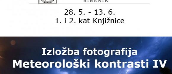 """Ove srijede se u Šibeniku otvara Crometeo izložba fotografija """"Meteorološki kontrasti IV"""""""