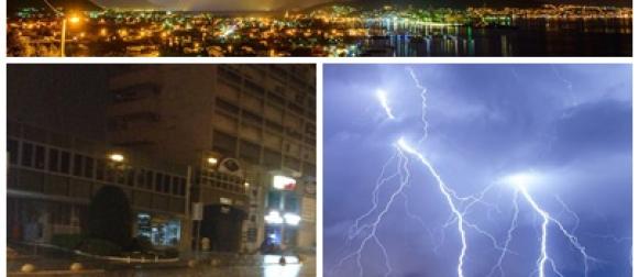 Nevera u Splitu, centar pod vodom, spektakularne munje! FOTO