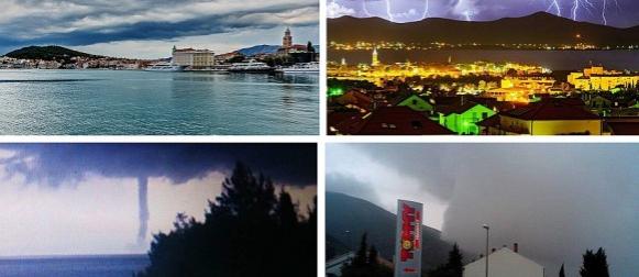 Kišno nevrijeme i jesenske temperature u Dalmaciji, Orebić pogodile dvije pijavice (FOTO)