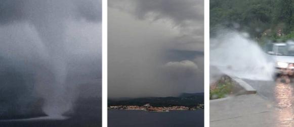 Pogledajte kako je izgledalo kišno nevrijeme s pijavicama u Orebiću