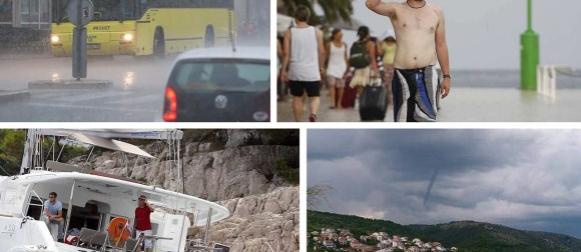 """Pogledajte prizore potopljene Dalmacije: Split """"grabi"""" prema najhladnijem i najkišovitijem srpnju ikada!"""
