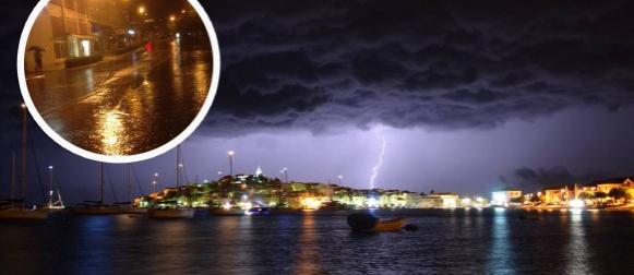 Jako grmljavinsko nevrijeme od Zadra do Splita, oborinske vode i plima prodirali u objekte!