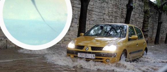 Veliko nevrijeme u južnoj Istri: Poplavljena Pula, pijavice na moru (FOTO)