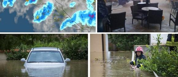 U Vodicama do 17 sati palo ekstremnih 240 mm kiše, poplave u Dalmaciji i Slavoniji (FOTO)