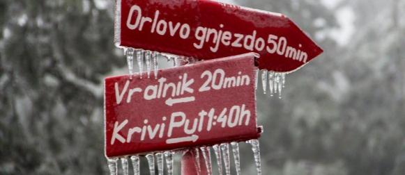Od viških 19°C do cjelodnevnog goranskog mraza: Pogledajte ledom okovani Gorski kotar (FOTO)
