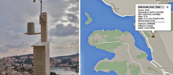 U rad puštena nova automatska meteo postaja na lokaciji Dubrovnik – Gruž