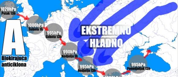 EKSTREMAN kraj godine: Ciklona Ines donosi snijeg, buru i opasnu polarnu hladnoću!