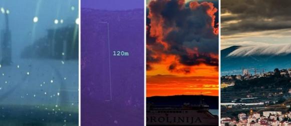 """Na mosoru """"oživio"""" slap Koludar visok 120 metara, na Biokovu snijeg i ispod nule"""