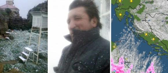 Ispisana meteorološka povijest: Snijeg zabijelio Palagružu uz buru i 0 Celzijevih stupnjeva