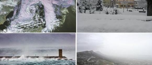 Ciklona Neven: Snijeg, bura, jugo, pustinjska prašina… (FOTO)