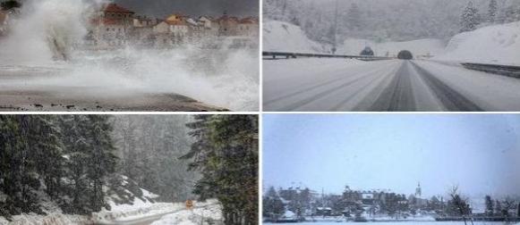 Ciklona Olja: Obilna kiša i orkansko jugo u Dalmaciji, snijeg u gorju