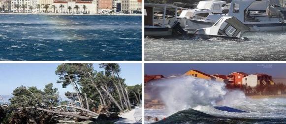 Zbog orkanske bure proglašena elementarna nepogoda za Split i Podstranu (VIDEO)