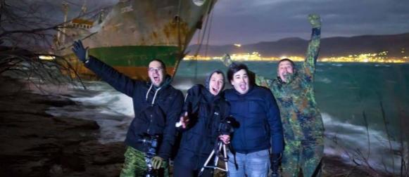 Pogledajte dramatične noćne snimke havarije brodova na obalama Marjana i Čiova