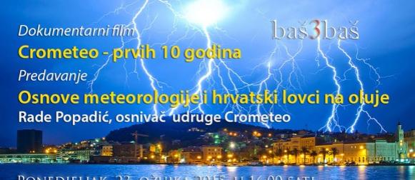 Split: Povodom Svjetskog meteorološkog dana u kinu Zlatna vrata Crometeo predavanje
