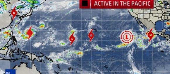 Hiperaktivni Pacifik:  Šest tropskih sistema