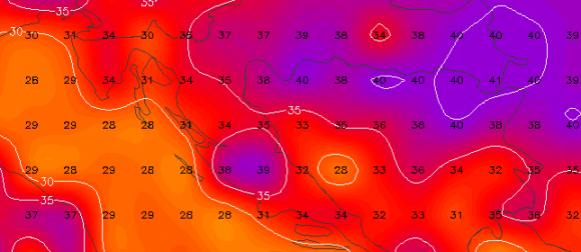 Doznajte gdje će temperature zraka dosezati 40°C i kada će ekstremne vrućine popustiti