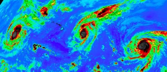 Uraganski trio na Pacifiku: Kilo, Ignacio, Jimena