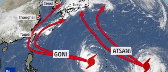 Goni i Atsani: Tajfuni blizanci nad zapadnim Pacifikom