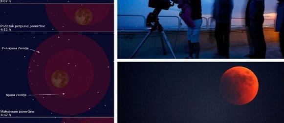 """Noćas potpuna pomrčina Mjeseca: Hoće li oblaci pokvariti """"doživljaj""""?"""