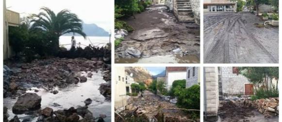 Ciklona Ištvan: Ekstremne oborine poplavile Vodice, Trstenik zatrpan blatom i kamenjem (FOTO)
