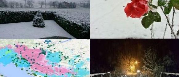 Stigla zima:  Obilna kiša, snijeg, bura, jugo