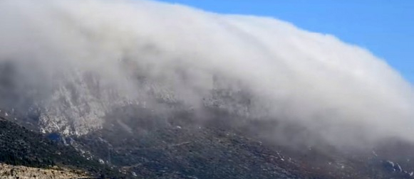 Prirodni fenomen: Timelapse slijevanja magle niz Kozjak (VIDEO)