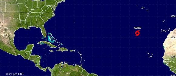 Alex i Pali:  Rijetke siječanjske tropske oluje na Atlantiku i Pacifiku