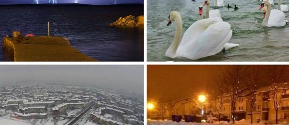 Prve munje ove godine na sjevernom Jadranu, na kopnu se kiša ledi (FOTO)