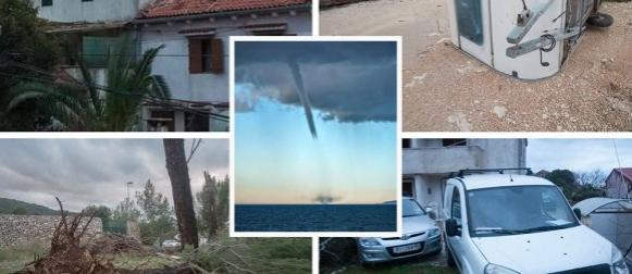 Centar ciklone prošao preko Hrvatske: Pijavica na Lošinju dizala automobile (FOTO, VIDEO)