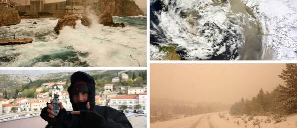 Ciklona Ivan: Udari bure preko 170 km/h, impresivan nalet pustinjskog pijeska u Dalmaciji (FOTO)