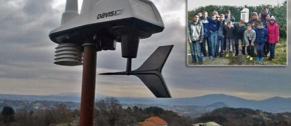 Škola u Kučićima, u omiškom zaleđu, dobila suvremenu meteorološku postaju