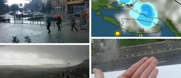 Dijelove Jadrana ponovno pogodila tuča, pijavice između Rogoznice i Primoštena