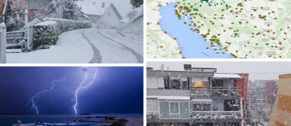 Fronta donijela najkasniji snježni pokrivač u unutrašnjosti od 1985. godine (FOTO, VIDEO)