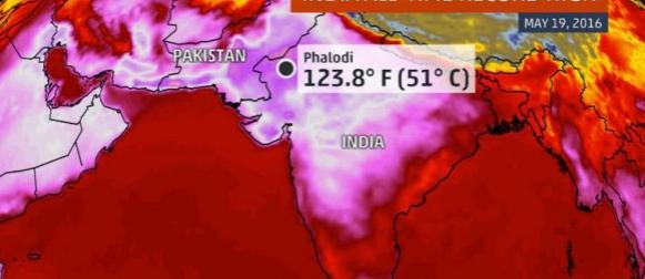 U Indiji izmjerena najviša temperatura u znanoj povijesti: 51.0°C