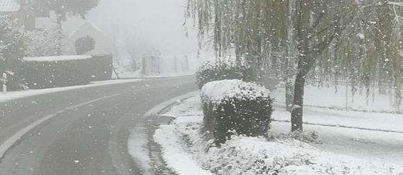 Snijeg  se u Zagorju i Međimurju spustio do nizina