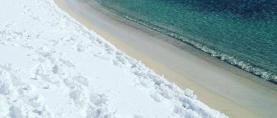 """Dijelovi talijanske obale Jadrana zatrpani """"morskim"""" snijegom"""