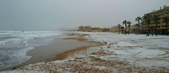 Na jugoistoku Španjolske pao snijeg nakon više od trideset godina