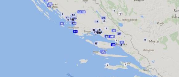 Nevrijeme i u Dalmaciji