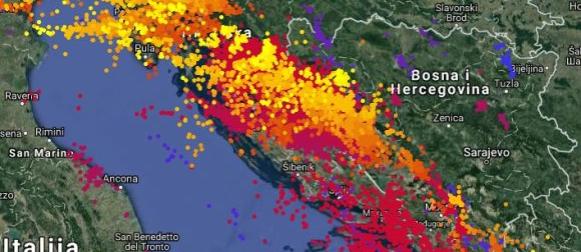 Ciklona Jura: Nestabilni četvrtak na Jadranu