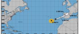 Uragan Leslie na putu prema Portugalu