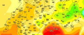 Vruće na jugu Švicarske i sjeveru Italije