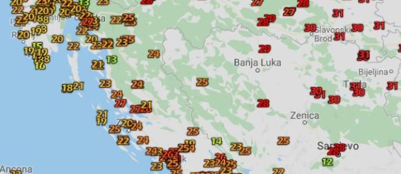 Vrući travanjski dan u Slavoniji