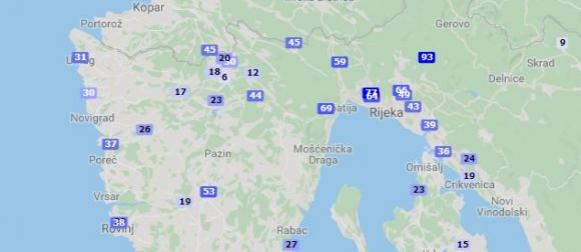 Obilna kiša na sjevernom Jadranu i u Gorskom kotaru