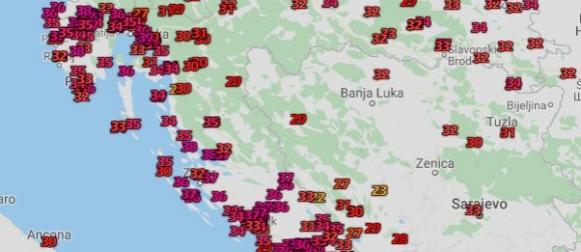 Toplinski val:  Temperature na Jadranu nadomak rekordnih vrijednosti za lipanj