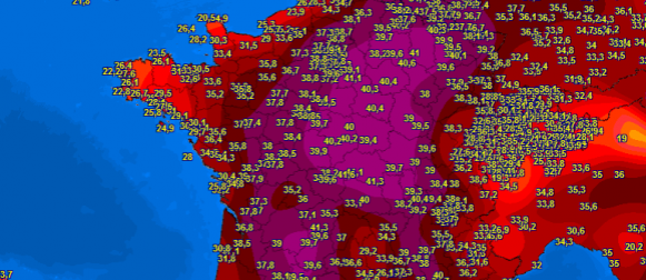 Toplinski val u zapadnoj Europi: Novi apsolutni  temperaturni rekordi